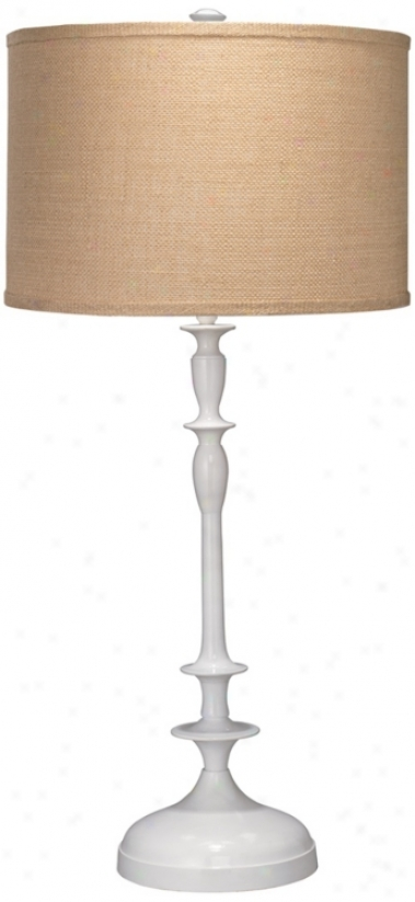Jamie Young Petit Paro Cast Metal White Buffet Lamp (w5420)