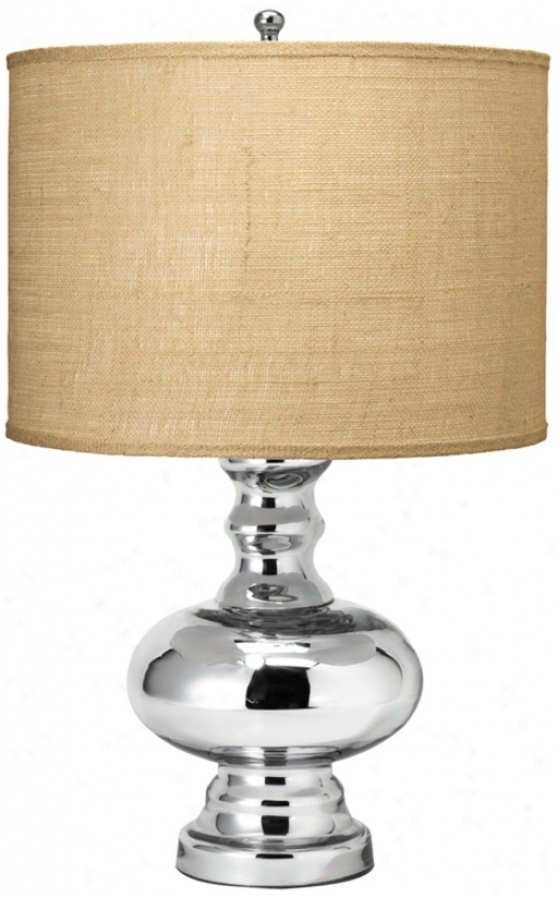 Jamie Young Small St. Croix Mecury Glass Table Lamp (u3755)