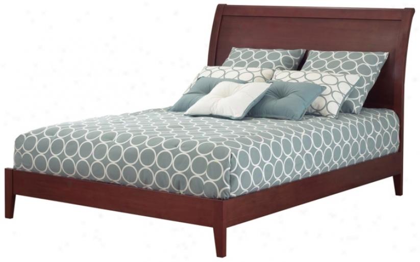 Java Bed Mahogany (queen) (p8460)