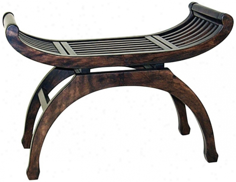 Java Curved Basswood Bench (r0952)