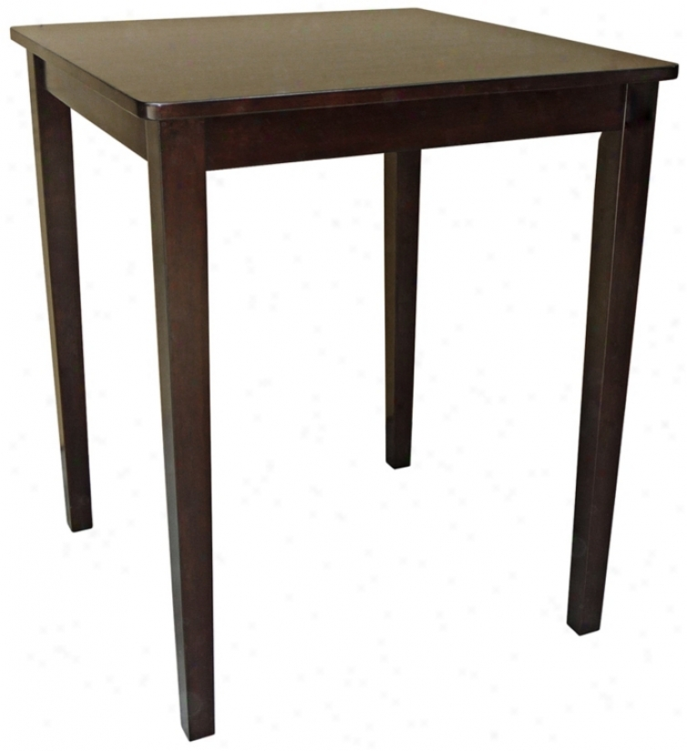 Java Finish Shaker Style Square Counter Height Table (u4183)