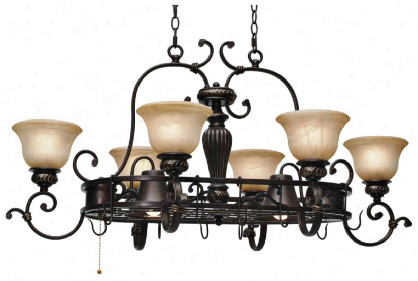 Jefferson Etruscan Bronze 8-light Island Chandelier (t1545)
