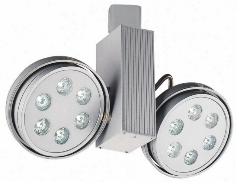Jesco Silver Led Round Two pSot Juno Compatible Track Head (m5744)
