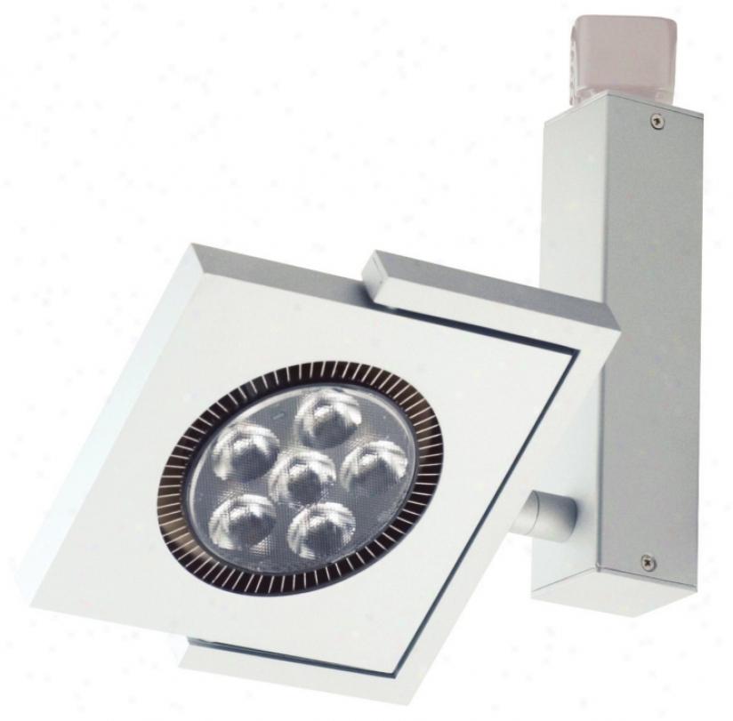 Jesco Silver Led Square Juno Compatible 6-light Track Head (m5740)