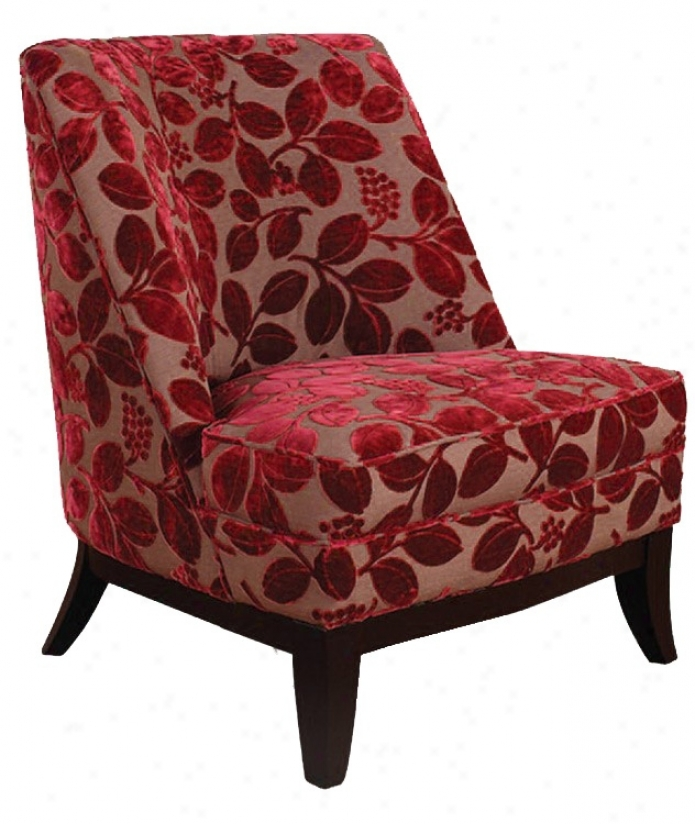Jester Red Velvet Flowers Average Chair (t3755)