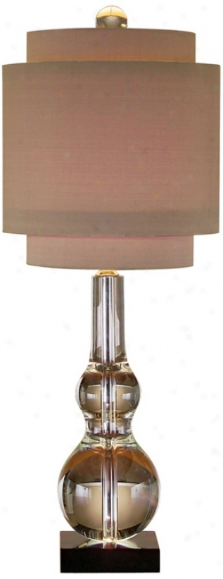 John Richard Crystal Double Goued Table Lamp (p1381)