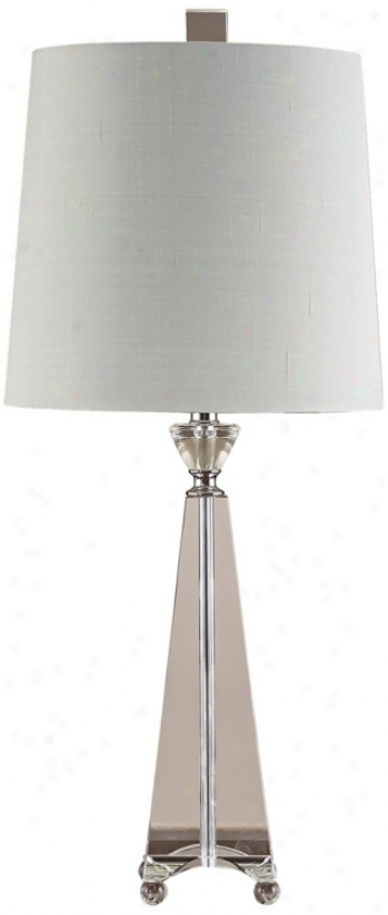 John Richard Crystal Pyramid Table Lamp (p1160)