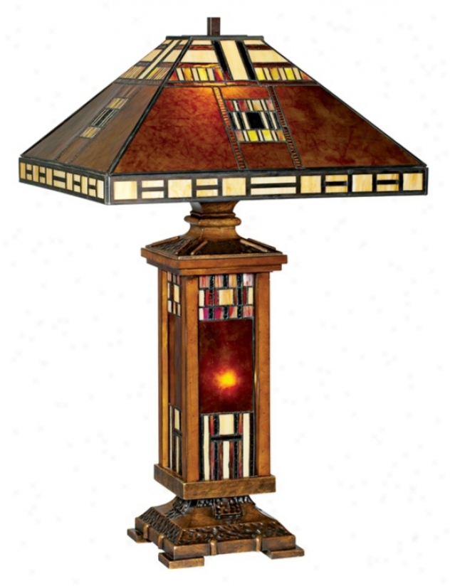 John Timberland™ Mica Tiffany Style Mission Table Lamp (73267)