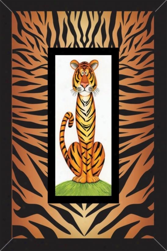 """Jumgle Cats Ii 15 3/4"""" High Wall Art (13923)"""