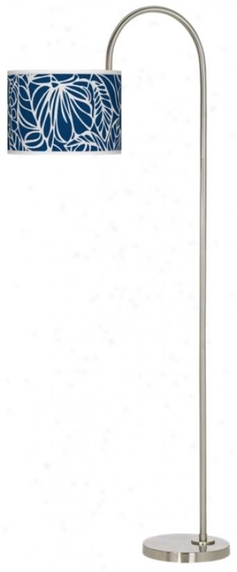 Jungle Rain Giclee Arc Tempo Floor Lamp (m3882-u0926)