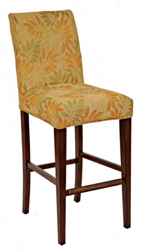 "Jungle Slipcovered Straight Leg 32 1/2"" Higy Barstool (46322-44836)"