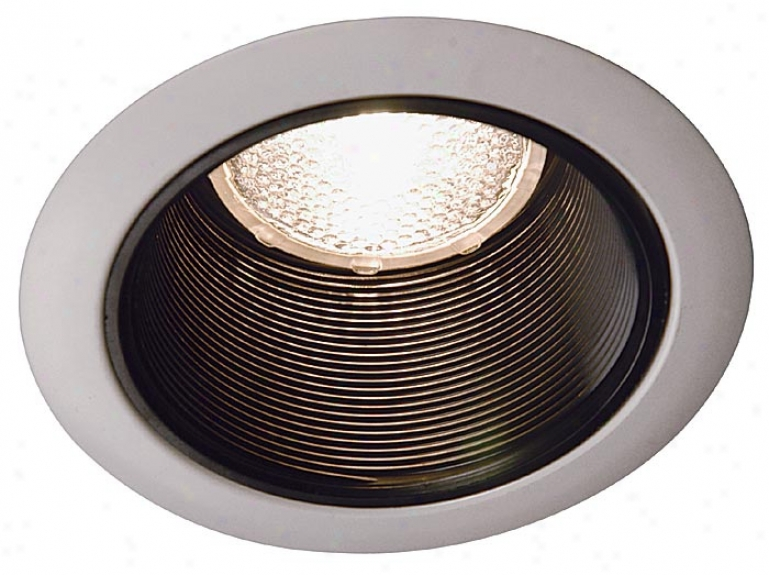 "Juno 4"" Murky Baffle White Trim Recessed Light (02579)"