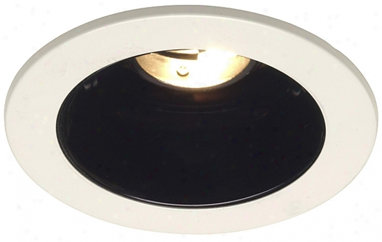 "Juno 4"" Low Voltage Black Alzak Recessed Light Trim (29819)"