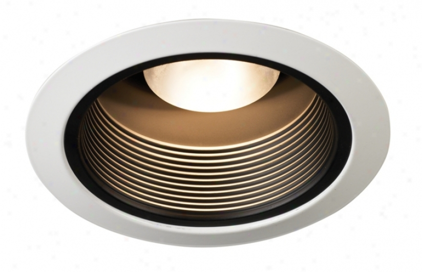 "Juno 5"" Black Baffle White Trim Recessed Light (87860)"