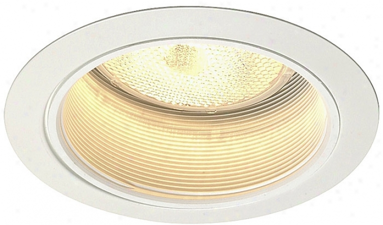 "Juno 5"" Line Voltage White Baffle Rec3ssed Light Trim (25786)"