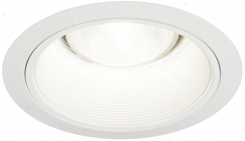"Juno 6"" White Baffle White Finish Redessed Light Trim (02484)"