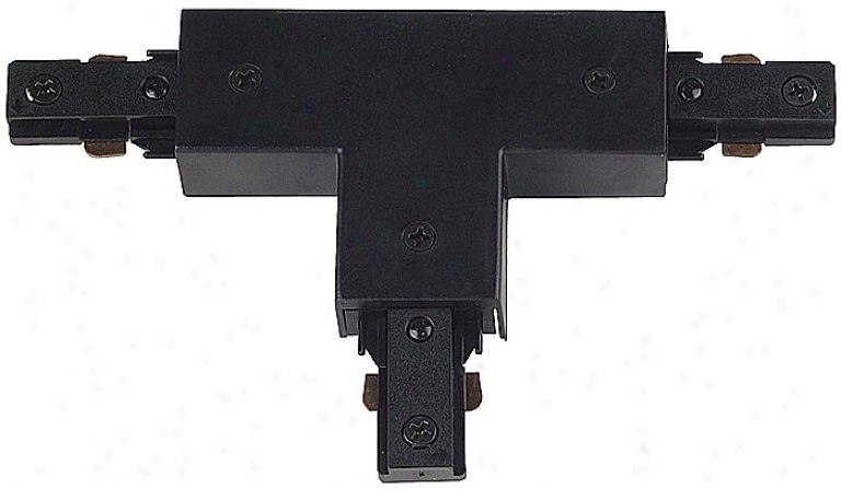 Juno Black Finish T-shaped Connector (26124)
