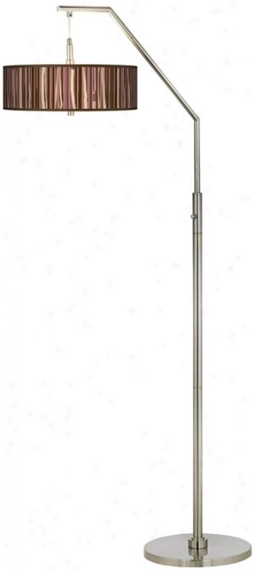 Kalahari Lines Giclee Shade Arc Floor Lamp (h5361-n9638)