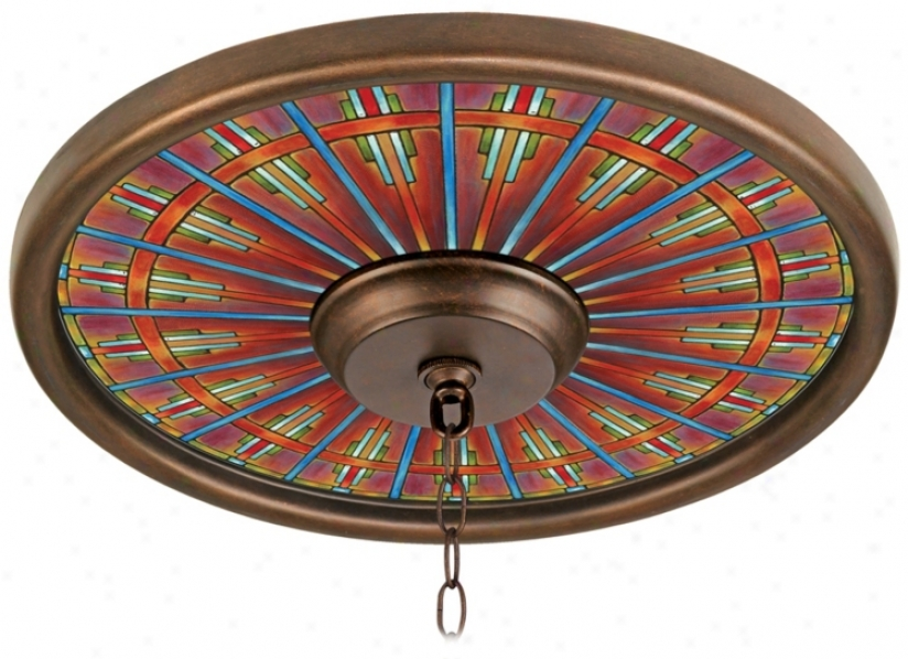 Kaleidoscope 16&quot Wide Brass Finish Ceiling Medallion (02975-k3377)