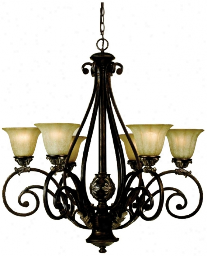 "Katherine Cognac Finish 31"" Wide Chandelier (r3531)"