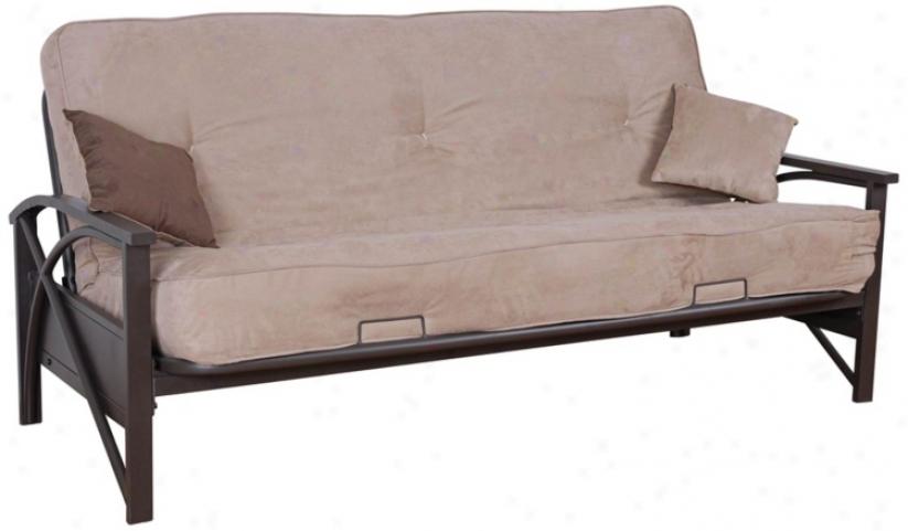 "Kathy Ireland Glendale 79"" Wide Microfuber Futon Bed (w1295)"
