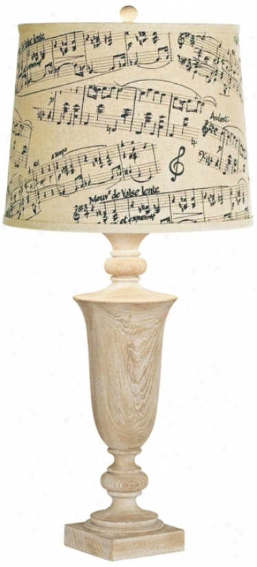 Kathy Ireland Grand Maison Musci Notes Table Lamp (r5966)