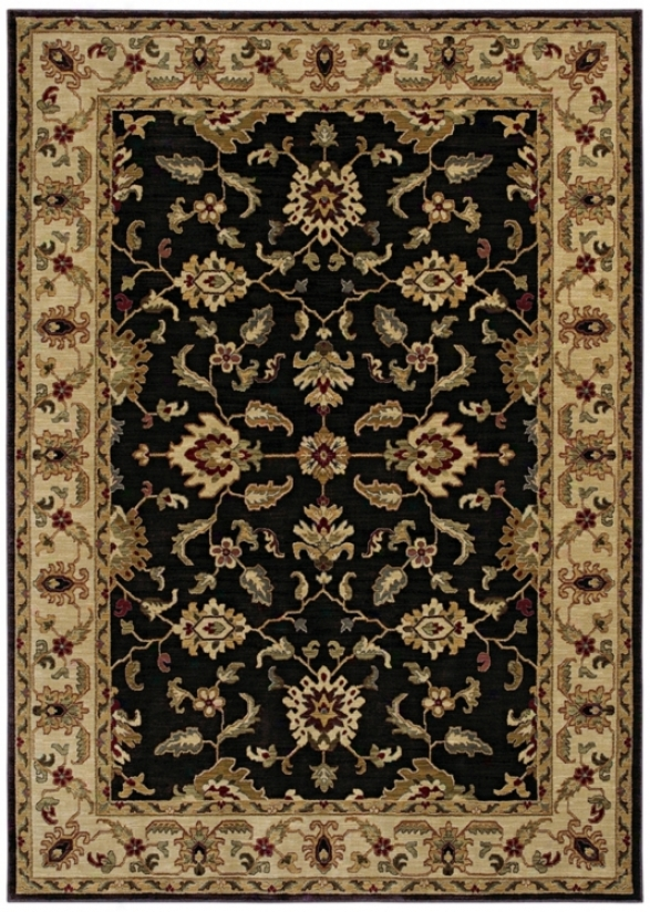 "Kathy Ireland Palace Retreat Black 1'10&quoy; X 2'9"" Rug (p2060)"
