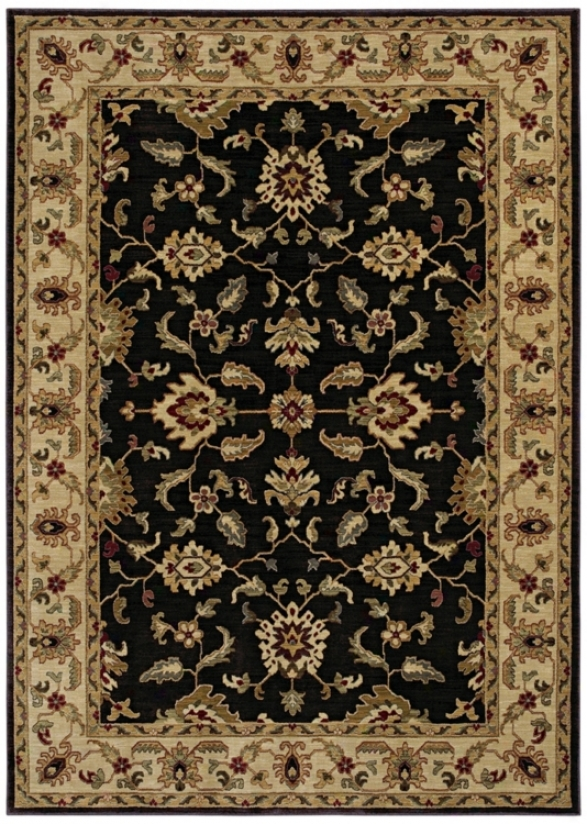 "Kathy Ireland Palace Retreat Black 9'6"" X 12'10""-Rug (p2061)"
