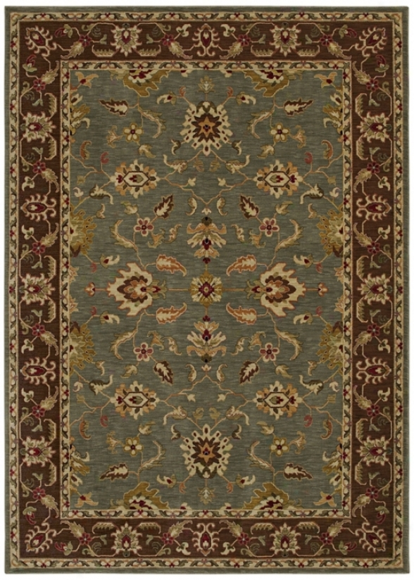 "Kathy Ireland Palace Retreat Light Blue 3'6"" X 5 ' Area Rug (p2079)"