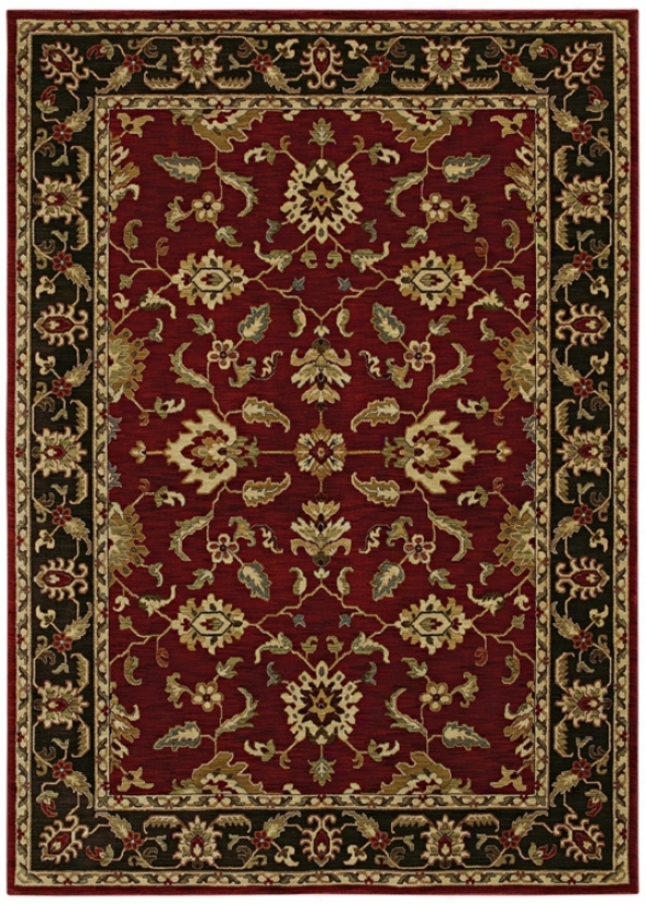 "Katuy Ireland Palace eRtreat Red 3'6"" X 5' Area Rug (p2100)"