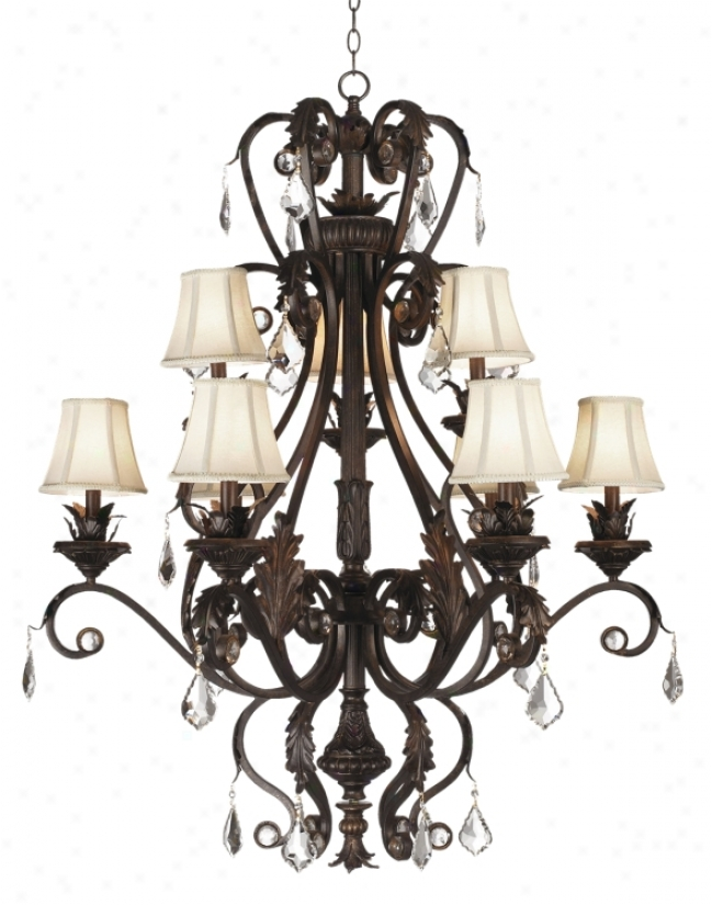 Kathy Ireland Ramas De Luces Nine Light Chandelier (07155)