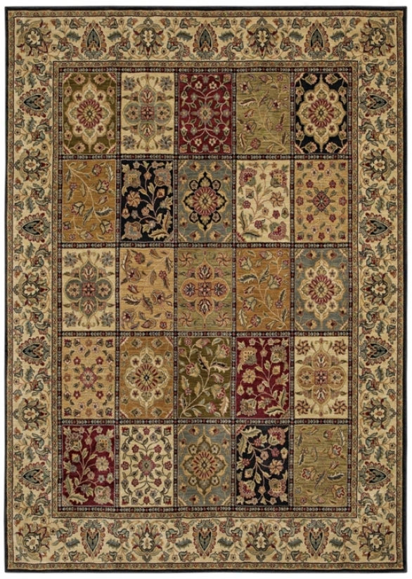 "Kathy Ireland Royal Treasure Multi 3'6"" X 5' Area Rug (p2130)"