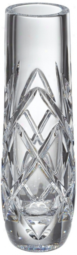 "Kathy Ireland Royal Wailea 8"" Etched Crystal Bud Vase (v5219)"