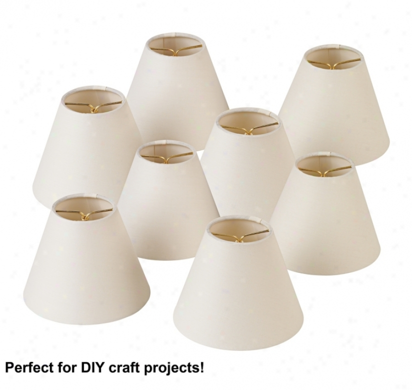 Kathy Ireland Fix Of 8 Off-white Shades 3x6x4.5 (clip-on) (50098)
