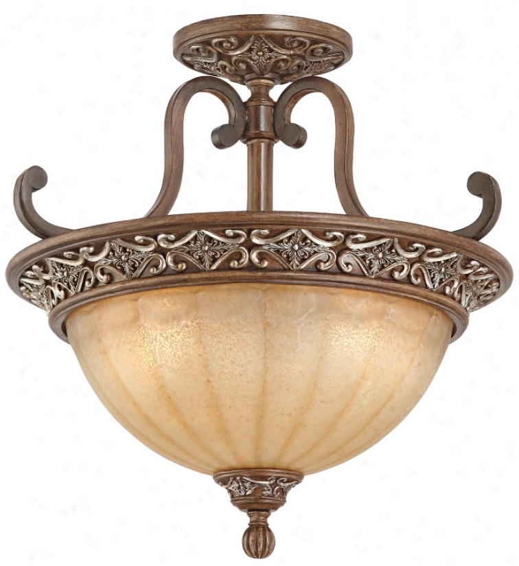 "Kathy Ireland Sterling Estate 18"" Spacious Ceiling Light (n8199)"