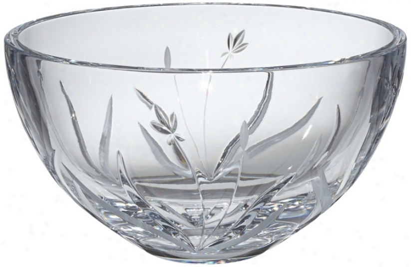"Kathy Ireland Tranqullity 10"" Wide Crystal Bowl (v5225)"
