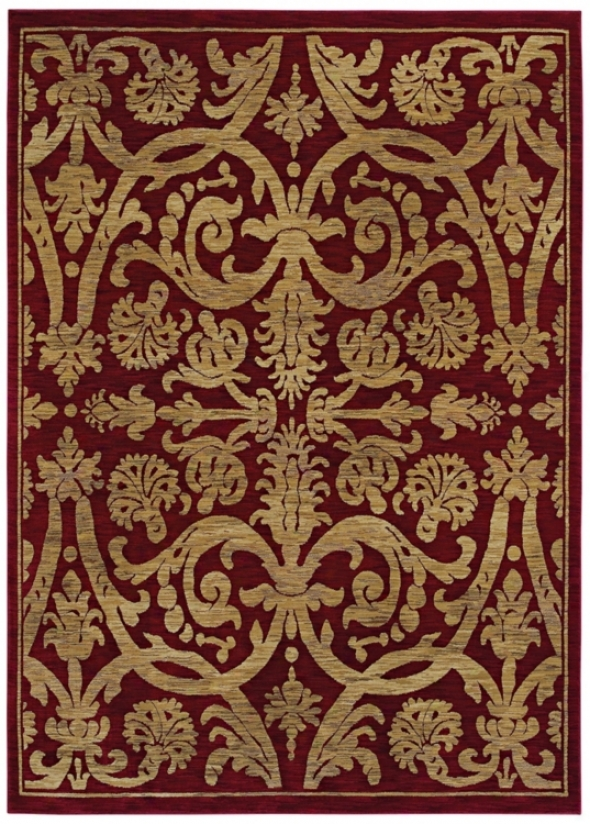 "Kathy Ireland Via Vrrde Ancient Red 1'10"" X 2'9"" Rug (p3566)"