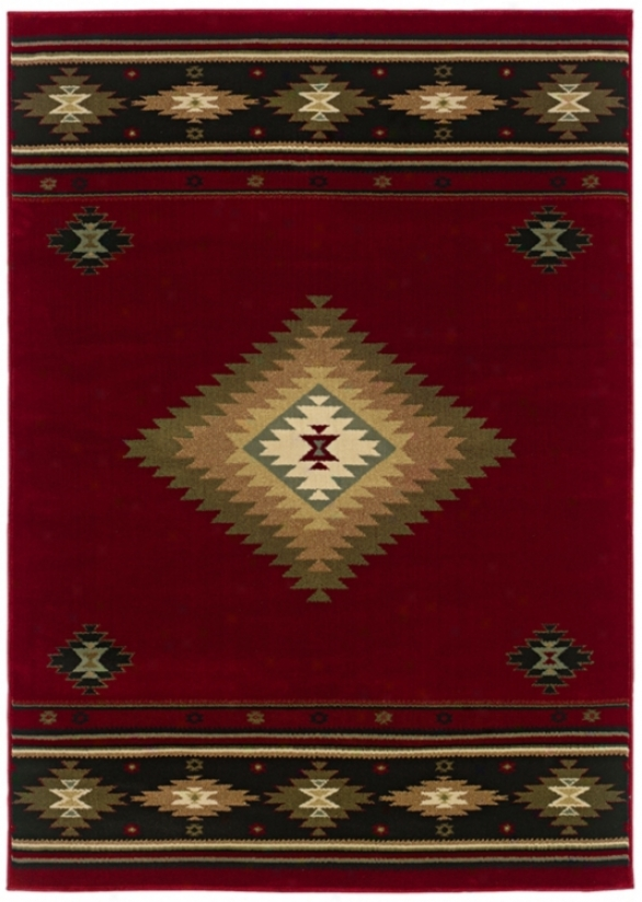 "Kayenta Red 3' 10""x5' 5"" Area Rug (j1531)"