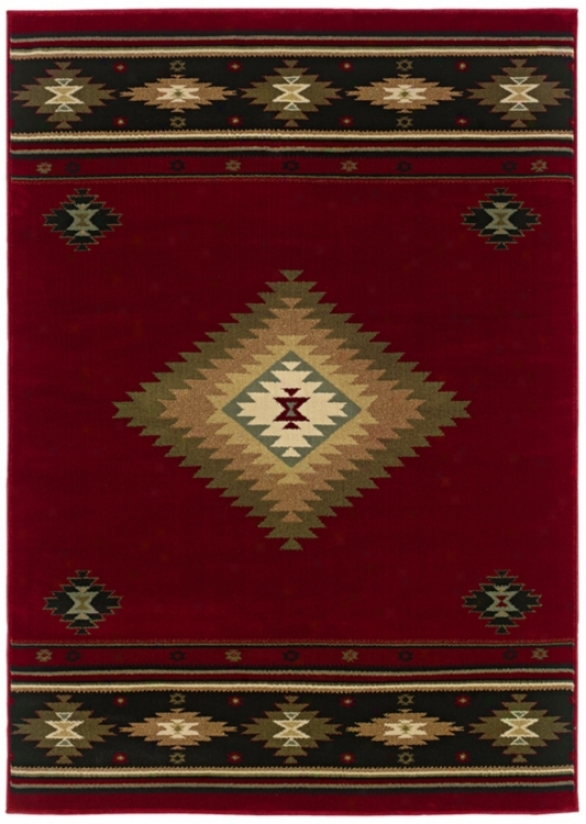 "Kayenta Red 6' 7""x9' 6"" Area Rug (j1533)"