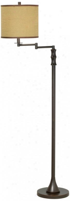 Keetin Royale Bronze Swing Arm Floor Lamp (p944)
