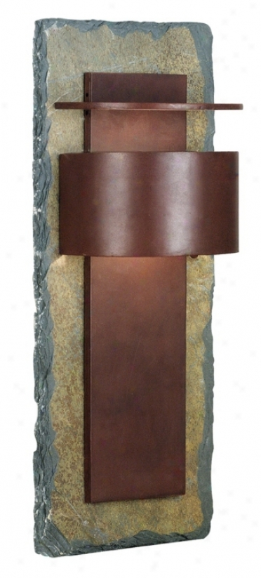 "Kembra Collection Slate Copper 24"" High Exterior Wall Sconce (j2019)"