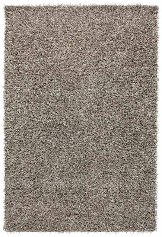 Kempton oCllection Silver 5'x7' Shag Area Rug (v7864)