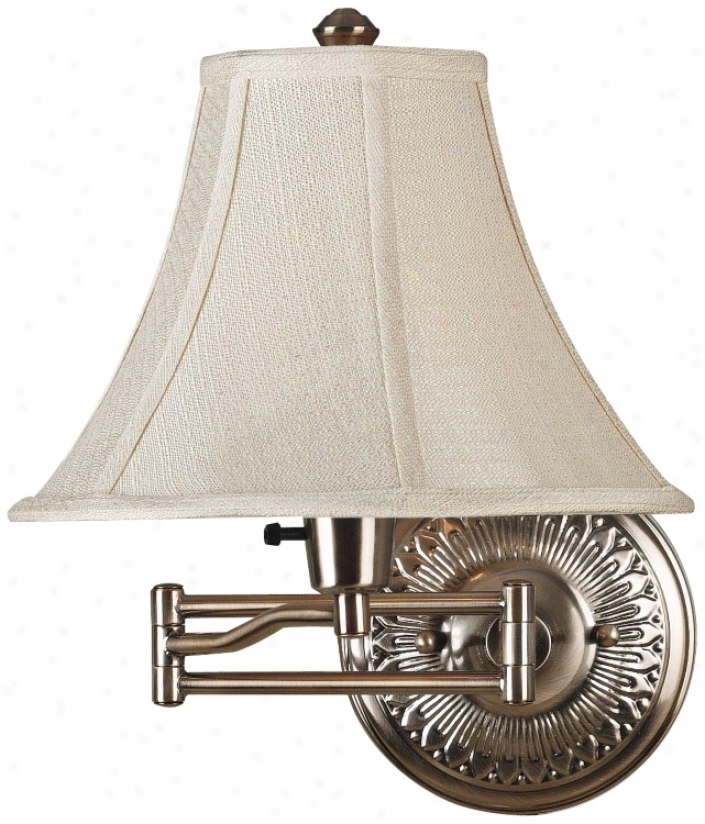 Kenroy Amherst Brushed Bronze Plug-in Swing Arm Wall Light (r8699)