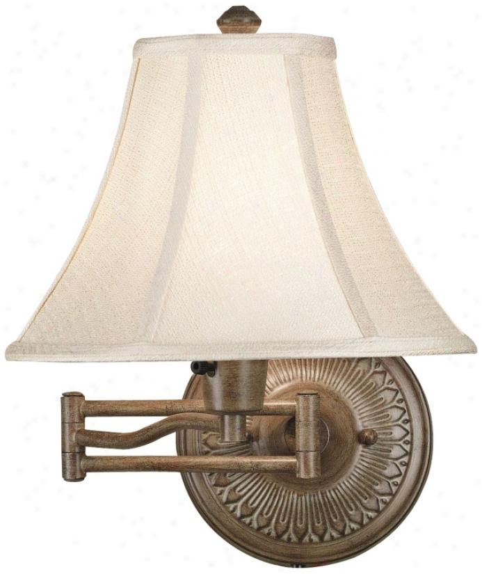 Kenroy Home Amherst Nutmeg Plug-in Swing Arm Wall Light (r8797)