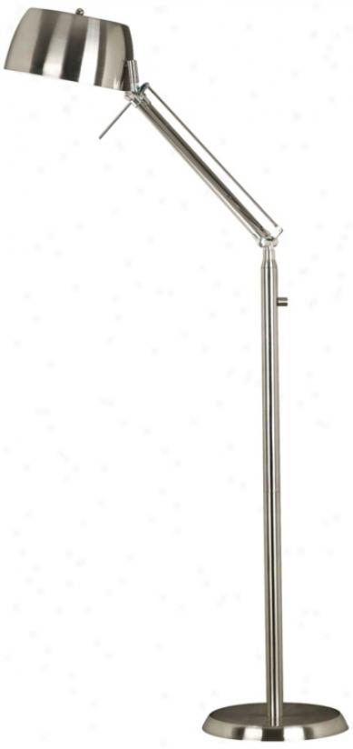 Kenroy Home Radial Brushed Steel Floor Lamp (r8015)
