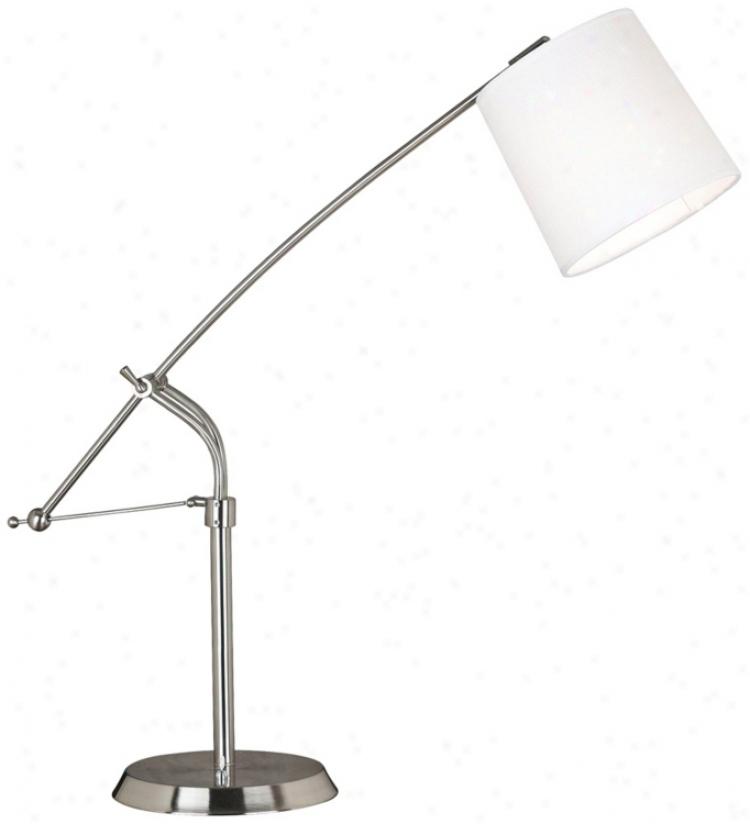 Kenroy Reeler Brushed Steel Balance Arm Desk Lamp (k8452)