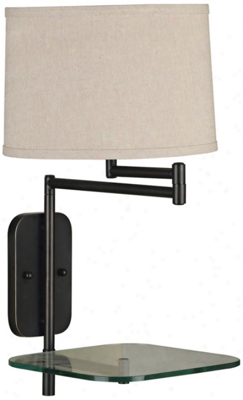 Kenroy Tabulw Bronze Plug-in Swing Arm Wall Lamp (p1315)