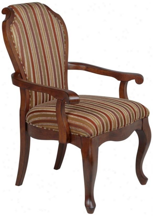 Kensington Stripe Wood Accent Chair (t9614)