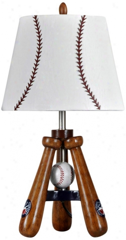 Kidd Valley Baseball Bat And Ball Tripod Accent Lamp (v2080)