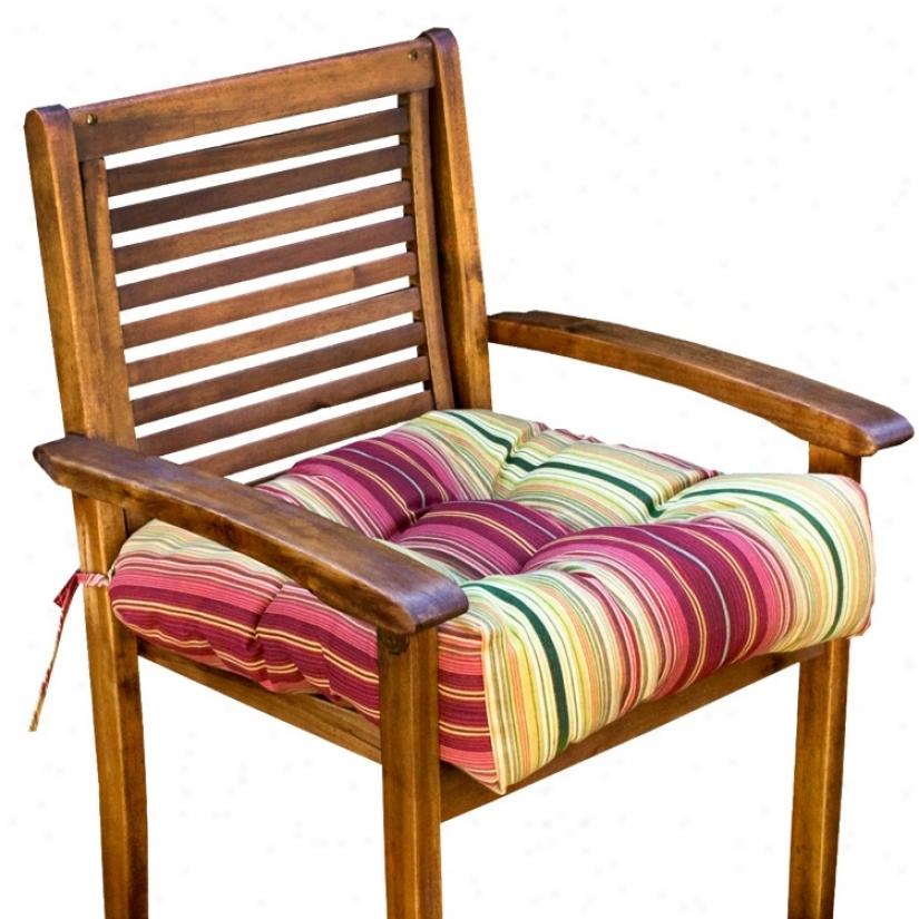 "Kinnabari 20"" Square Outdoor Chairman Cushion (w6239)"